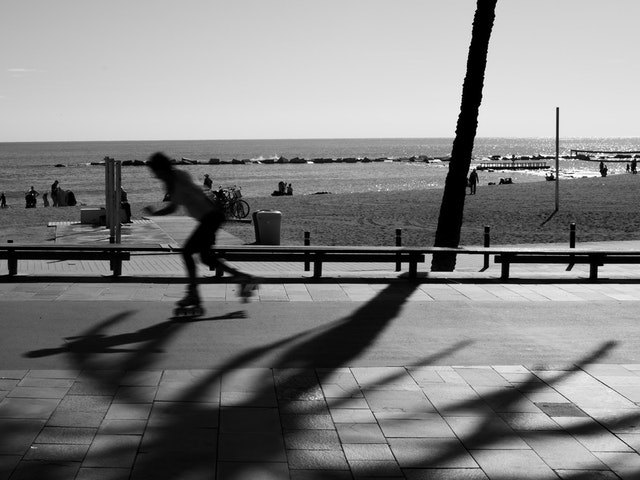 Stranden i Barcelona.