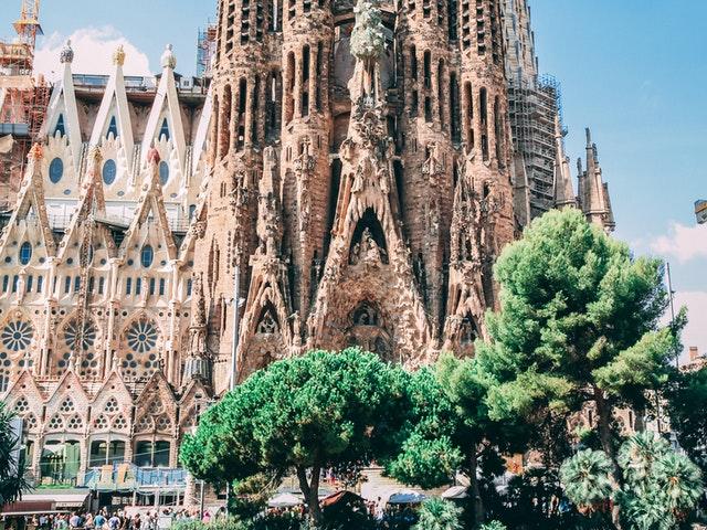 Sagrada Familia i Barcelona.